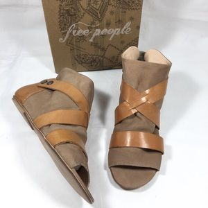 FREE PEOPLE Long Beach Leather Boot Sandals NEW 8